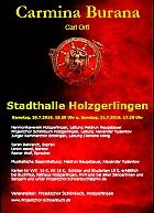 Carmina Burana - Projektchor Schönbuch, HV Holzgerlingen, Junger Kammerchor Böblingen @ Stadthalle Holzgerlingen | Holzgerlingen | Baden-Württemberg | Deutschland